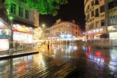 Night sight of zhongshan road in the rain Stock Photo