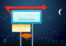 Night sign board Stock Images