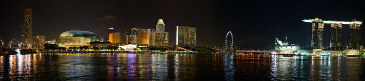 Night Singapore Royalty Free Stock Photography