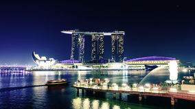 Night Singapore Stock Photo