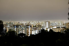 Night Singapore Cityscape stock photography