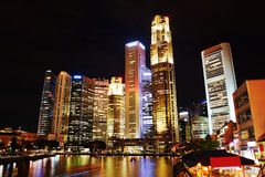 Night Singapore Royalty Free Stock Photos