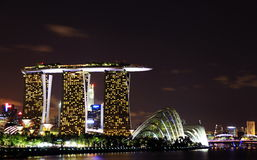 Night singapore skyline at marina bay sands Stock Image