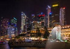 Night Singapore Stock Images