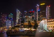 Night Singapore Stock Images