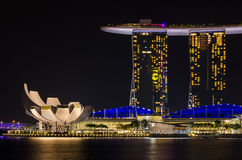 Night Singapore Royalty Free Stock Images