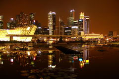 Night singapore. Night view of marina bay sands Stock Photo