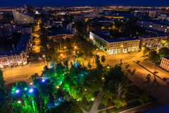 Night sity, view from roof Stock Images