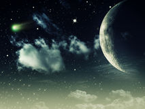 Night skies. Abstract environmental backgrounds for your design Stock Photo