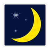Night sky. Vector cartoon icon of night sky Royalty Free Stock Photo