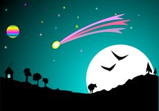 Night Sky. And  dreams. vector Stock Photography