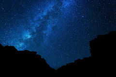 Night Sky. Milky Way Galaxy, Night Sky with Amazing Stars royalty free stock photography