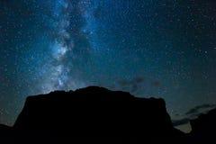 Night Sky. Stars and Milky Way Galaxy royalty free stock photos