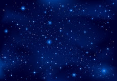 Night sky. Night background, shining Stars on dark blue sky, illustration Royalty Free Stock Photos