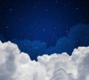 Night sky. Abstract blue night sky with stars