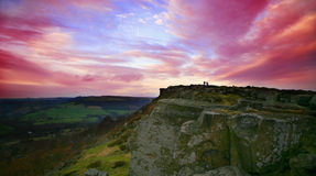 Night Sky. A digital image of a sunset sky over the north of derbyshire royalty free stock photos