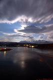 Night sky. Night skies and mountains northern Norway Royalty Free Stock Photo