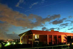 Night sky. Building and night sky view before it's getting night fall. photo taken in Kwa-zulu natal university, south africa Stock Photos