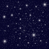 Night Sky. A night sky with lots of stars Royalty Free Stock Image