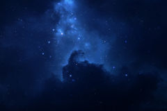 Starry night sky space background Royalty Free Stock Image