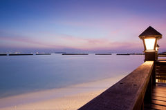 Night Sky After Sunset At A Seaside Beach Resort Stock Image