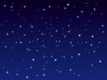 Night sky background with bright stars. Starry night sky  background with bright stars Stock Photo