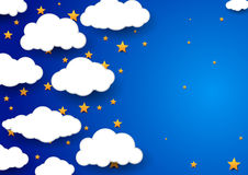 Night sky background - childish wallpaper Stock Photography