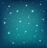 Night sky background with glittering stars Royalty Free Stock Image