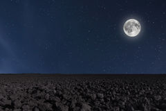 Night sky background with moon and stars. Full moon background. Royalty Free Stock Photography
