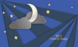 Night sky background vector illustration