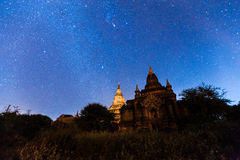 Night Sky in Bagan Royalty Free Stock Photography