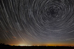 Night sky with bright stars trails. Astrophotography of outer sp. Ace stock images
