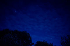 Night sky with city glow Stock Photo