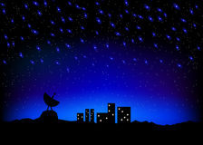 Night sky city scape Stock Photos