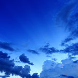 Night sky with cloud background Royalty Free Stock Image
