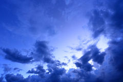 Night sky with cloud background Stock Photo