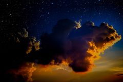 Night Sky. Night Sky With Cloud And Stars Stock Images