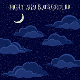 Night Sky with Clouds Stock Photography