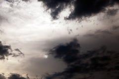 Night sky , clouds Stock Image