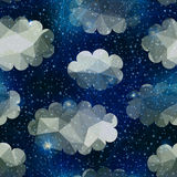 Night sky with clouds. Seamless background pattern. Night sky with clouds Royalty Free Stock Photo