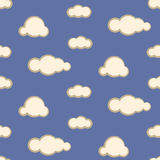 Night sky clouds seamless vector pattern. Stock Photography