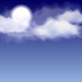 Night clouds and moon Royalty Free Stock Photo