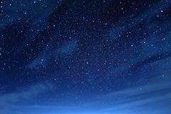 Night sky with clouds with the starry stock illustration