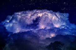 Night sky with clouds Stock Photo