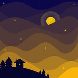Night sky. Color of the night sky Royalty Free Illustration