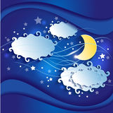 Night sky 3D Stock Photography