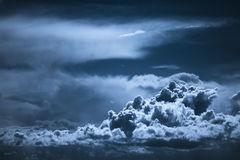 Night sky. Dark blue night sky with clouds formation Stock Image