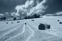 Night sky and field Royalty Free Stock Image