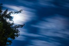 The night sky floating clouds Royalty Free Stock Photography