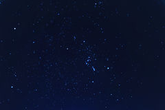 Night sky full of bright stars royalty free stock photo